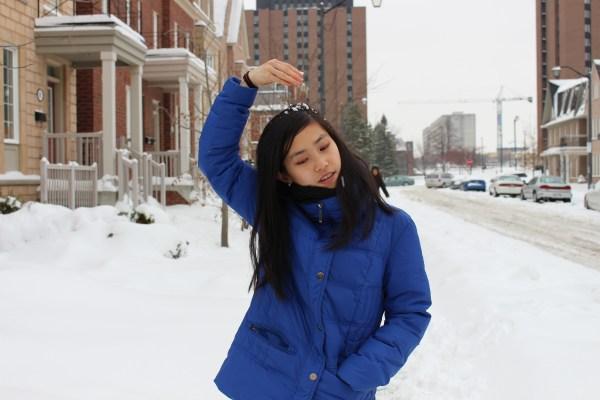 selfie winter
