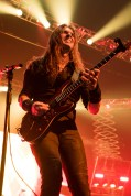 Kiko Loureiro performs with Megadeth at the Matthew Knight Arena in Eugene, OR. Photo by Keith Lancaster.