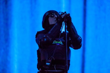 Maynard James Keenan of Tool performs at SAP Center in San Jose. Photo by Clay Lancaster.