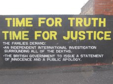 "Belfast - ""Time for truth time for justice"""