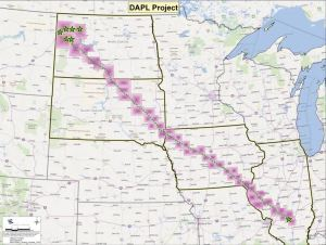 The course of the DAPL through the Midwest.