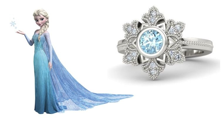 Engagement Rings By Disney Princess