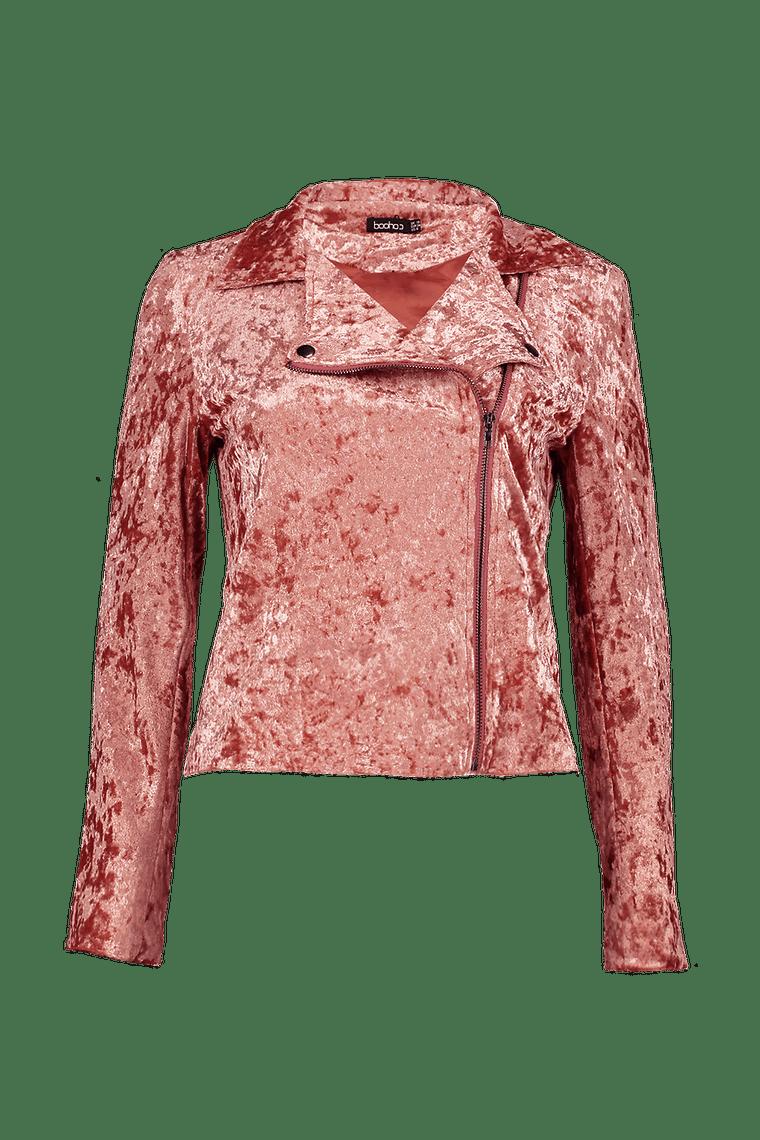 Amelia Velvet Biker Jacket >