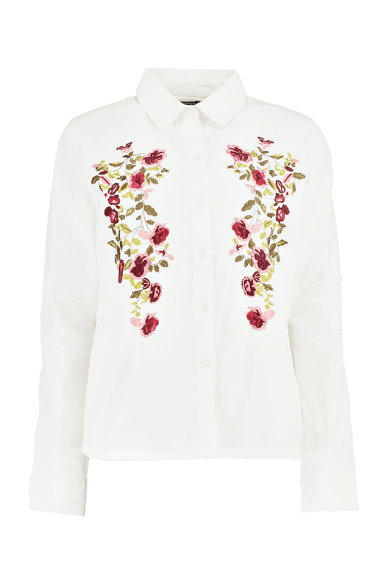 Daisy Embroidered Shirt >