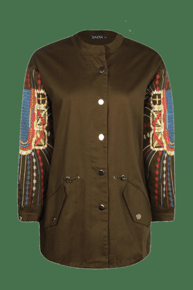 Emma Embroidered Utility Jacket >
