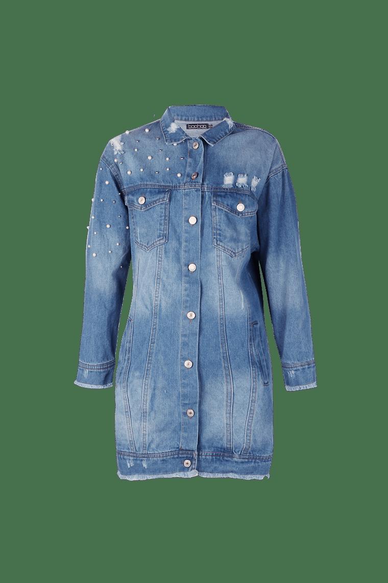 Mia Pearl Denim Jacket >