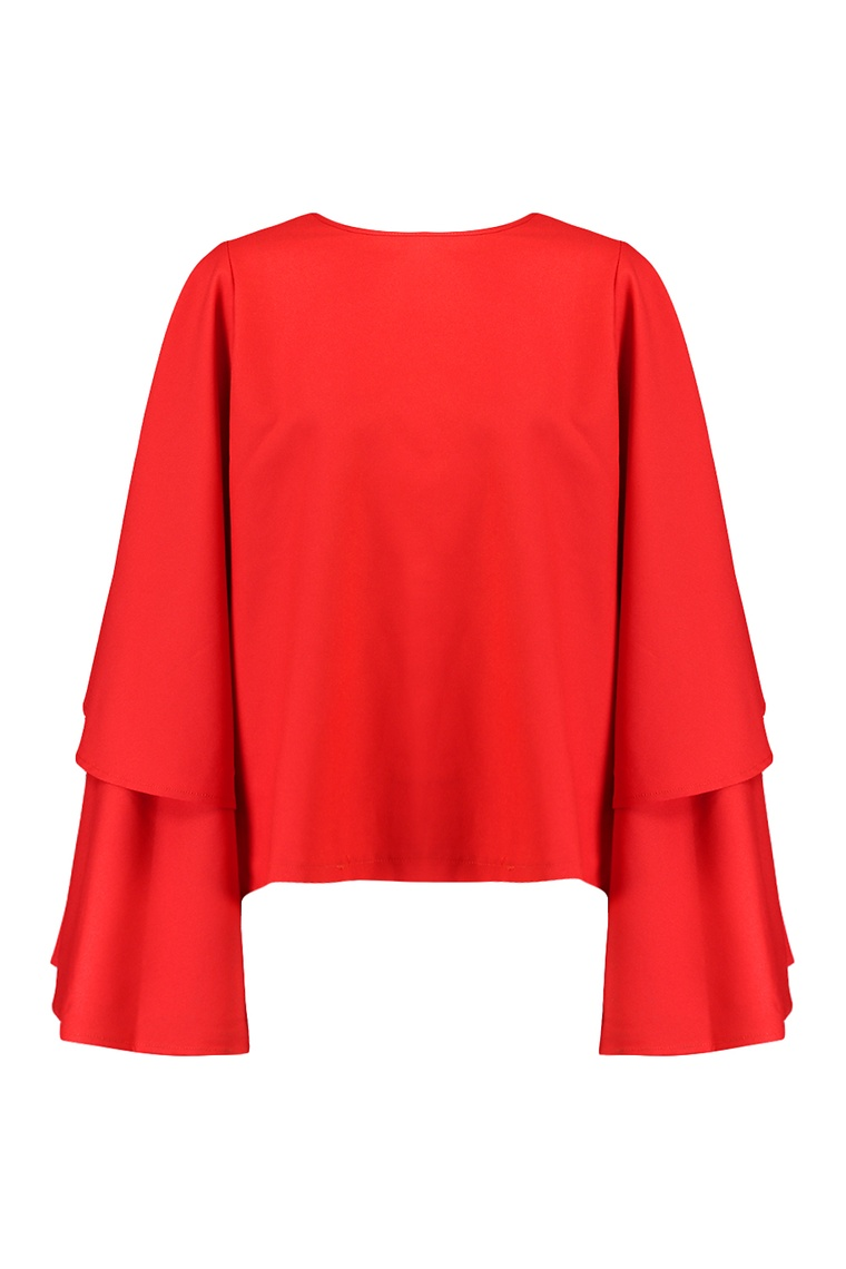 Grace Exaggerated Sleeve Top >