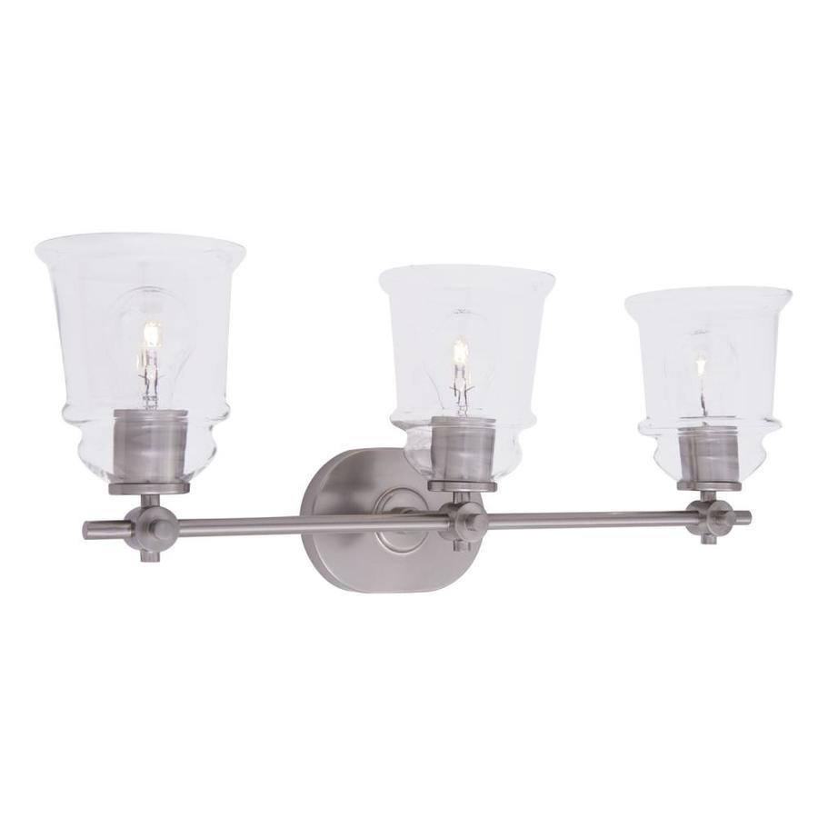 allen roth winsbrell 3 light nickel traditional vanity light b10077