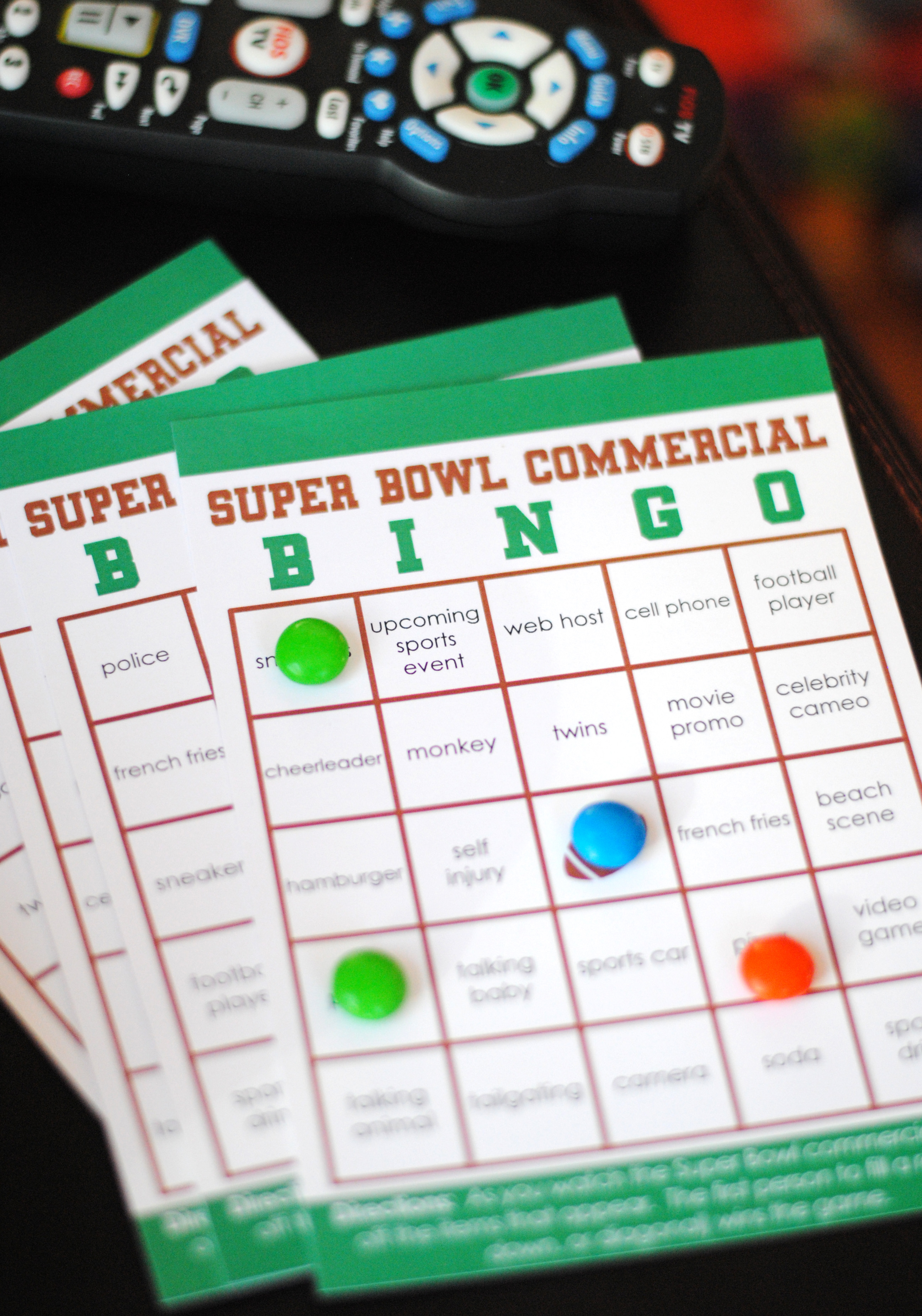Free Printable Commercials Bingo For The Big Game