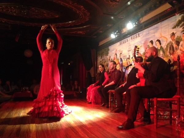 Flamenco dancer at Villa Rosa flamenco tablao in Madrid