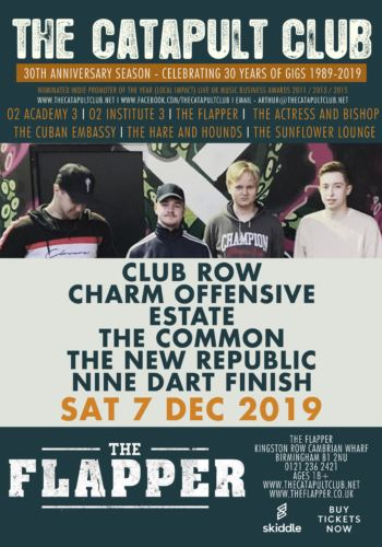 CLUB ROW + CHARM OFFENSIVE + ESTATE + THE COMMON + THE NEW REPUBLIC + NINE DART FINISH