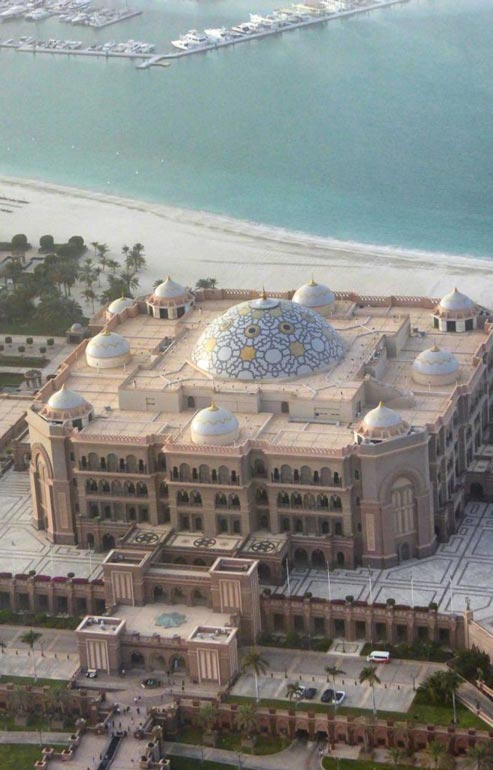 Panoramic view of Emirates Palace Abu Dhabi