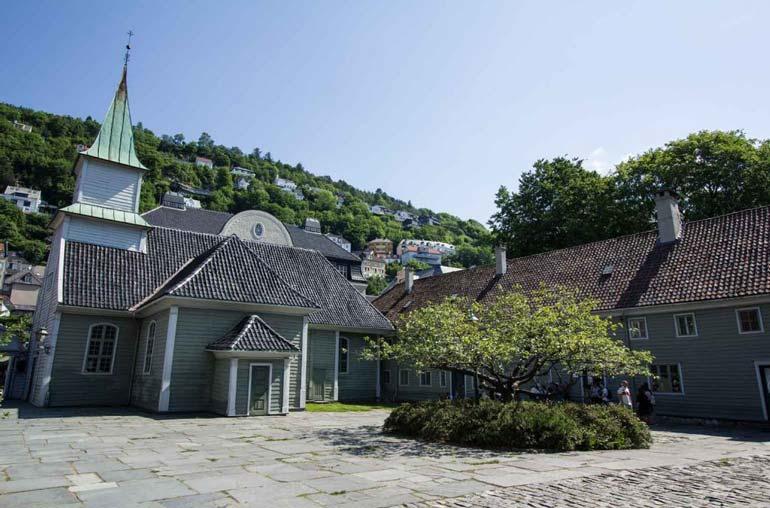Exterior of Leprosy museum Bergen