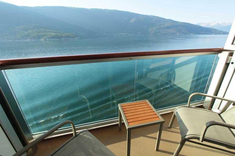 Balcony on P&O's Britannia