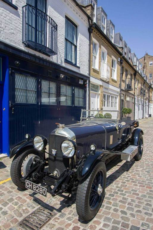 London mews street, complete with vintage car