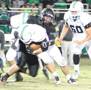 Dublin's defense held Clifton to just 30 yards in the second half Friday. || Photo by BRAD KEITH
