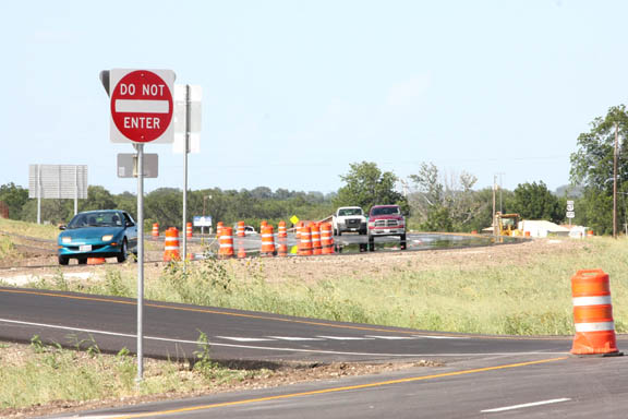 Construction on the first phase of the Dublin Loop is nearing completion and the second phases is ahead of schedule, TXDOT officials say.    BRAD KEITH photo