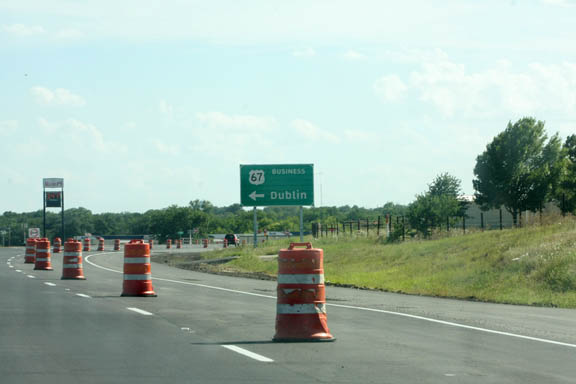Construction on the first phase of the Dublin Loop is nearing completion and the second phases is ahead of schedule, TXDOT officials say.    JESSIE HORTON photo
