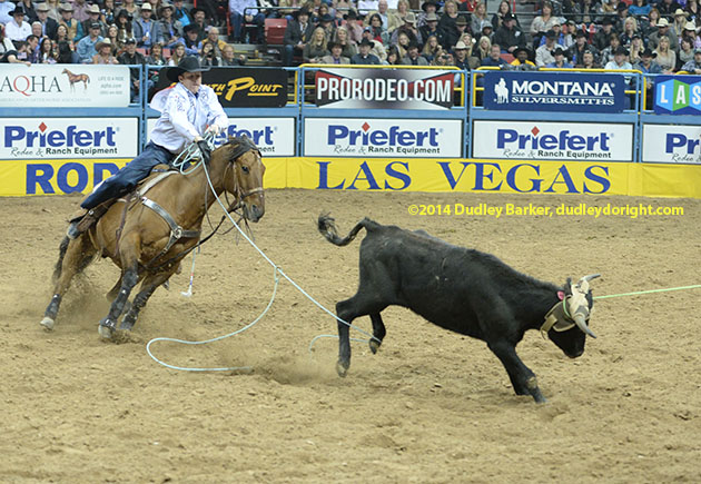 Jim Ross Cooper, shown at the 2014 National Finals Rodeo in Las Vegas. || Courtesy DUDLEY BARKER/dudleydoright.com