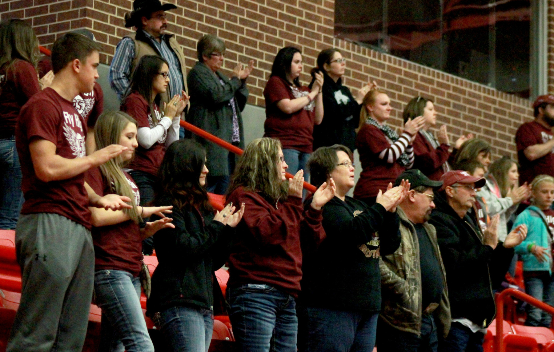 The Cardinal faithful provide a standing ovation. || Photo contributed