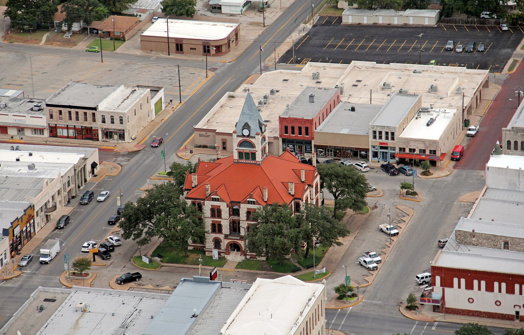 The Erath County Courthouse is the center of Stephenville's downtown Historic District, an area where students from Tarleton State University have begun an inventory of historic commercial buildings.