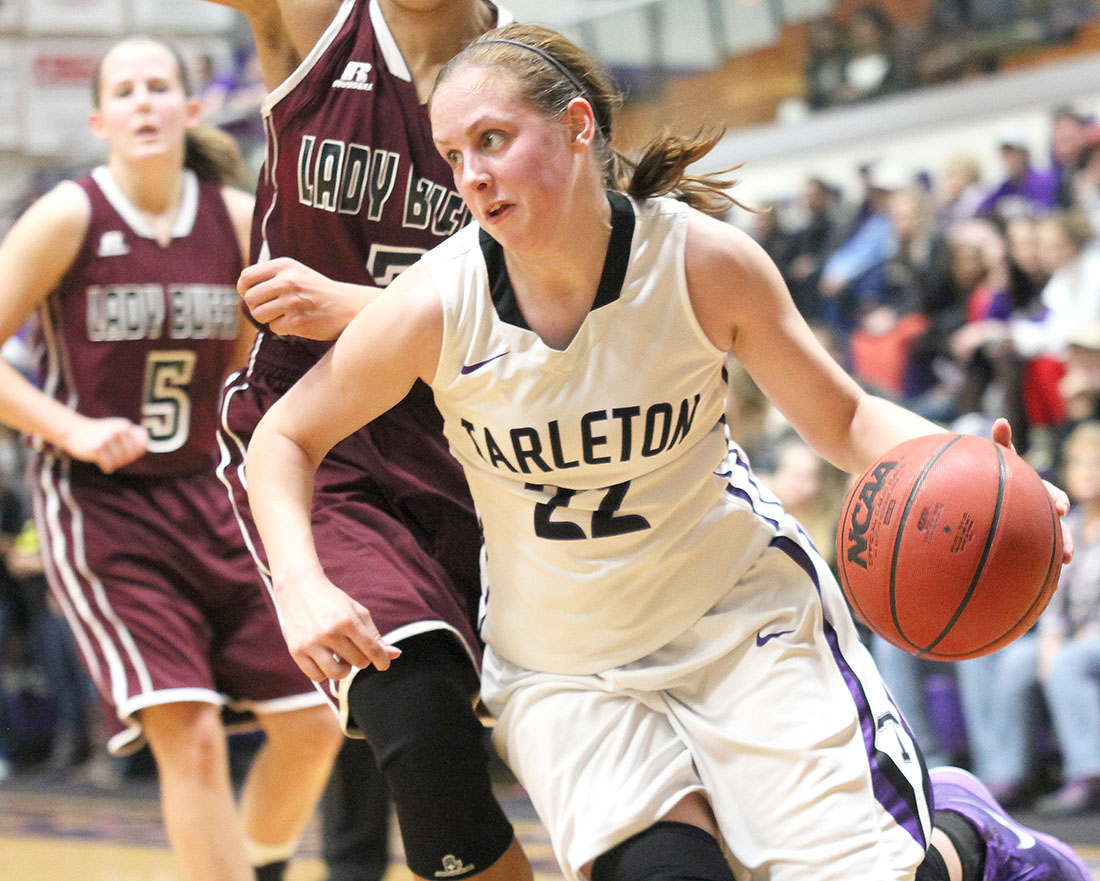 Bailey Wipff scored 10 points for Tarleton State Wednesday night. || Photo by Dr. CHET MARTIN