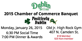 "These are the tickets for the Dublin Chamber of Commerce ""Positively Dublin' banquet on January 26."