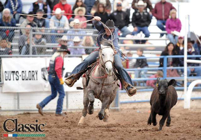 Stephenville tie-down roper Chase Williams is one of several local rodeo athletes competing in the finals in San Antonio Friday night and the finals in The American in Arlington on Sunday. || Photo courtesy Lone Wolfe Photography