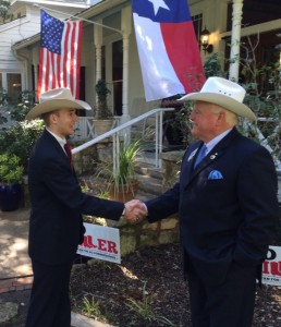 Colton Buckley and Texas Ag. Commissioner Sid Miller