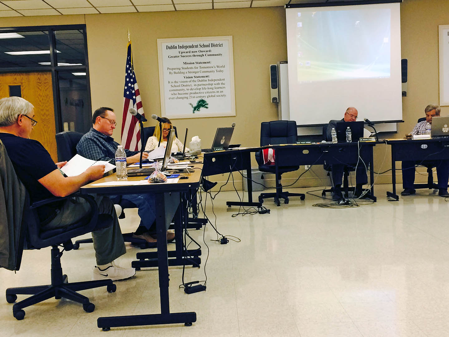 Dublin ISD evaluated Superintendent Dr. Rodney Schneider Monday night. The superintendent received a one-year contract extension. || JESSIE HORTON photo