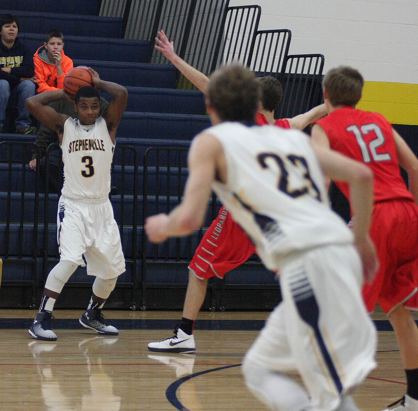 Darian Brown scored 14 points for Stephenville and Waco LaVega Tuesday. || Photo by BRAD KEITH