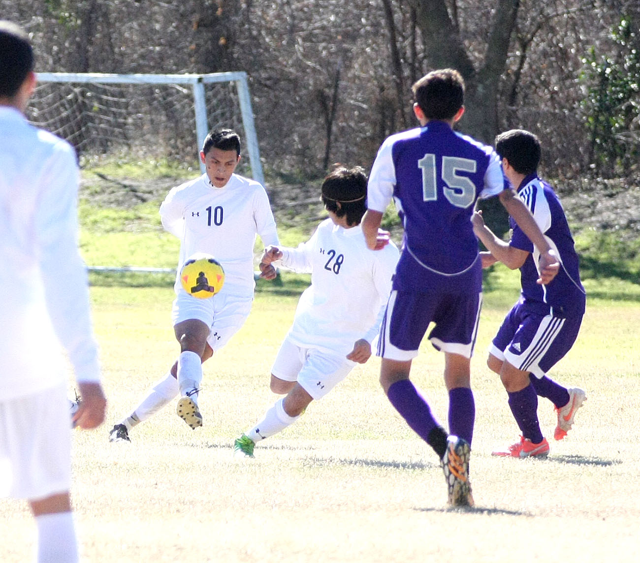 Felipe Espinoza, 10, scored the second goal in Stephenville's 3-0 win at Burkburnett Tuesday. || Photo by BRAD KEITH