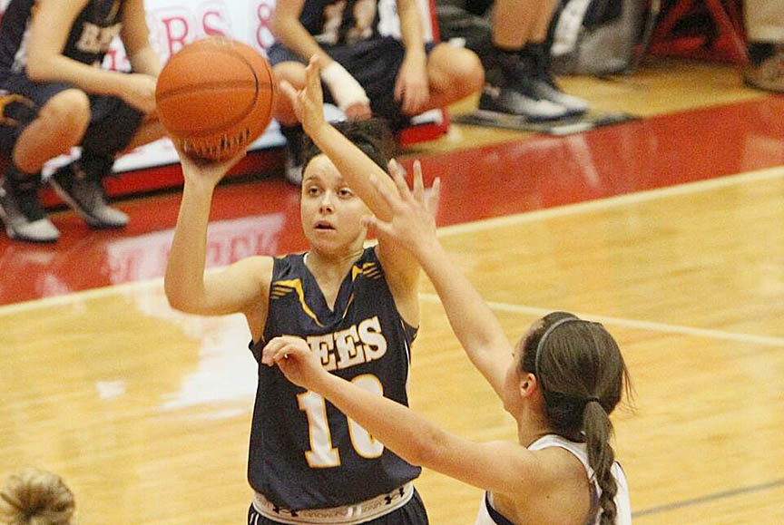 Breanna Wooley scored 11 points for Stephenville in an overtime loss to Robinson Tuesday at Gandy Gym. || Photo by RUSSELL HUFFMAN