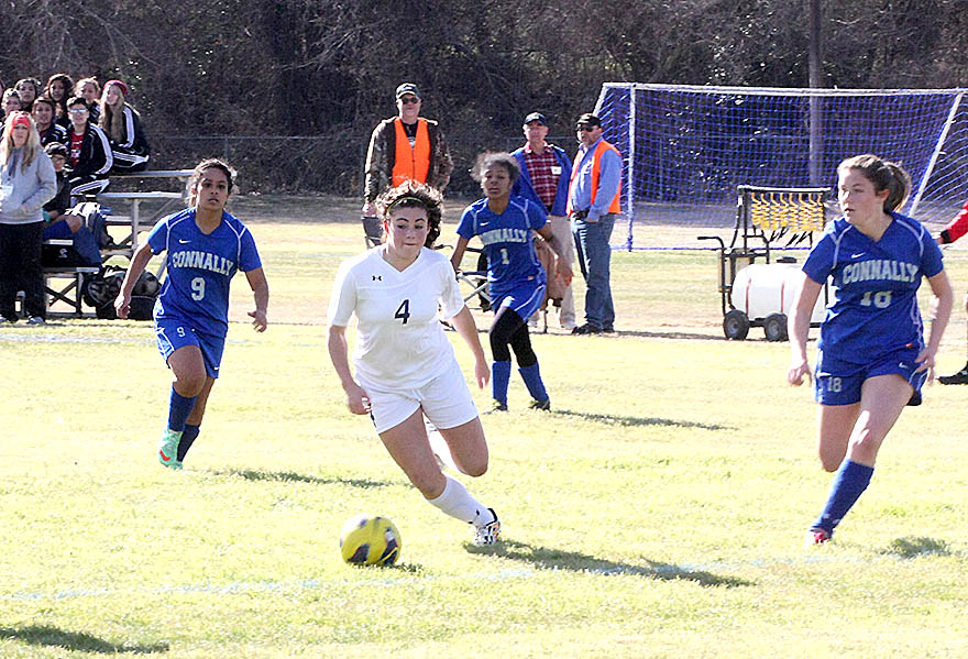 Savannah Alford (pictured) was one of two Stephenville girls to score twice against Waco Connally Saturday. || Photo by BRAD KEITH