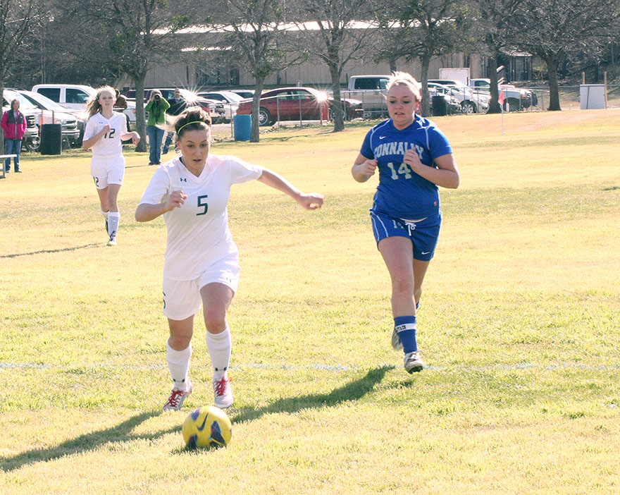 Skylar Chipman assisted on Stephenville's second goal in a 2-1 win over No. 4 Abilene Wylie Tuesday. || Photo by BRAD KEITH
