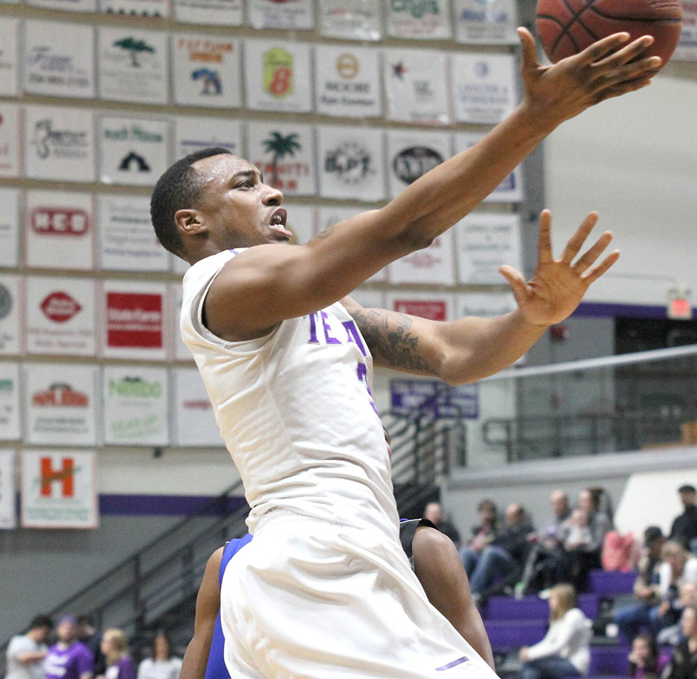 EJ Reed scored seven points off the bench against York College Friday. || Photo courtesy CHET MARTIN