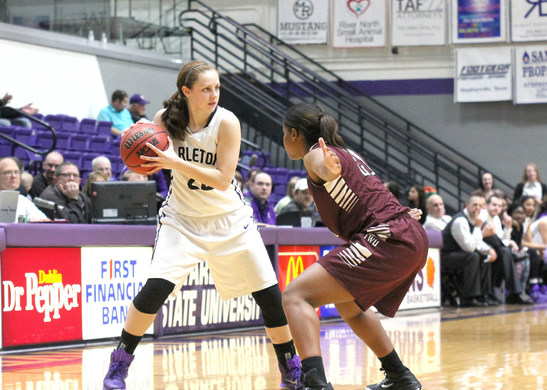 Bailey Wipff and Tarleton try to complete a regular season sweep of Lone Star Conference rival Midwestern State at 5:30 p.m. Wednesday in Wichita Falls. || Photo by Dr. CHET MARTIN