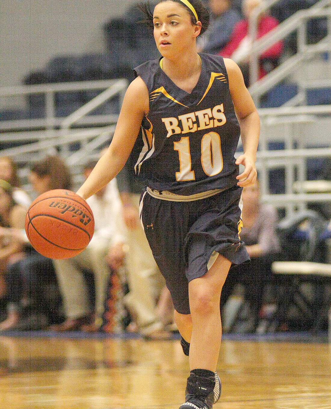Breanna Wooley, a senior guard, led Stephenville with 13 points Thursday. She knocked down four 3-pointers in the area-round playoff against Decatur at Brock High School. || Photo by BRAD KEITH