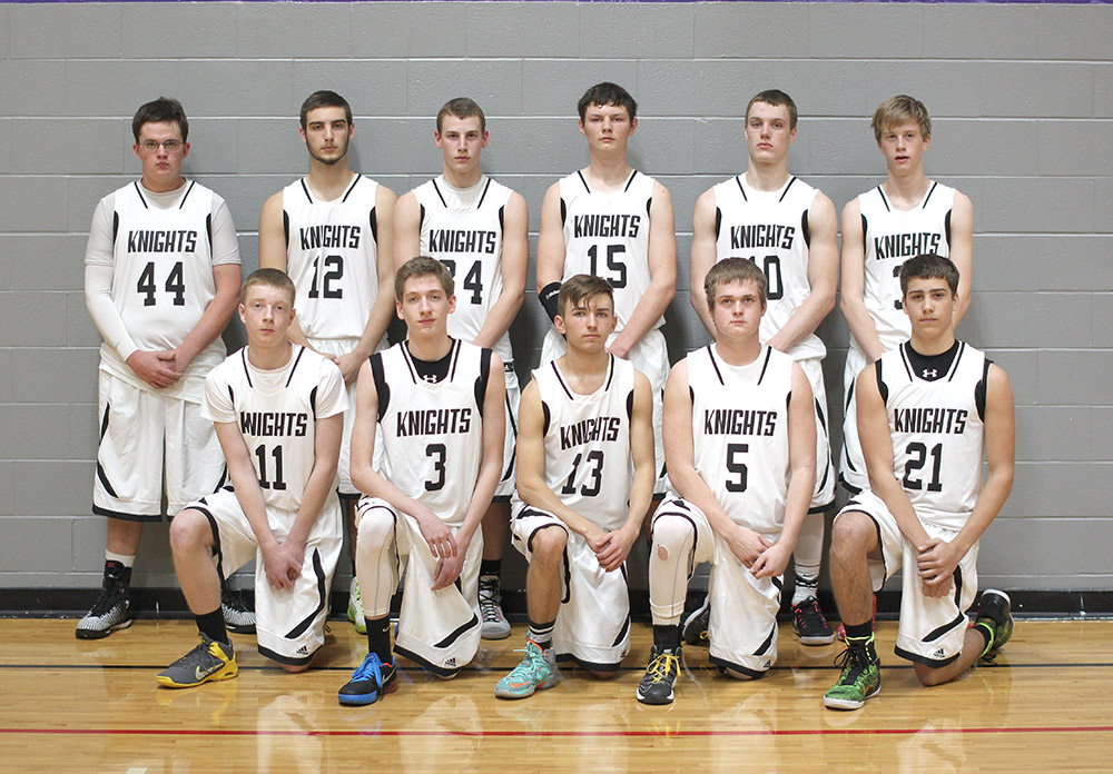 The Knights are aiming for three trips to state in three years of competitive basketball. || Photo contributed