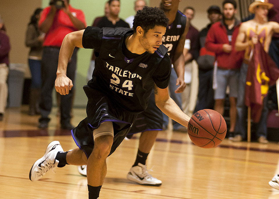Junior point guard Michael Hardge and No. 11 Tarleton State host one of Wisdom Gym's most anticipated games in years Wednesday against No. 4 Angelo State. || Photo courtesy NATHAN BURAL/Tarleton