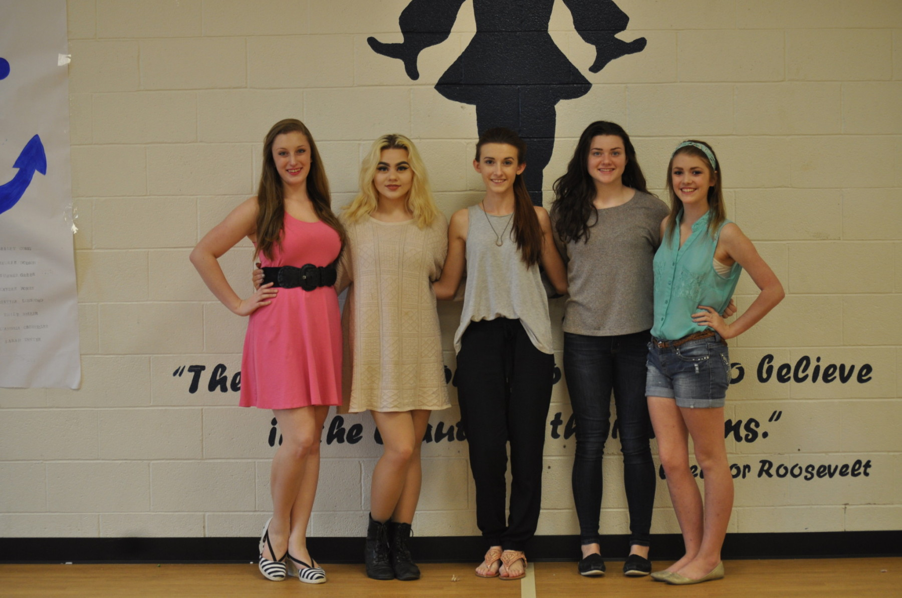 The 2015-2016 SHS Stings officers are (l-r) Elizabeth Afeman, Allison Balder, Shelby Sult, Cassidy Balder and Maurie Dodson.