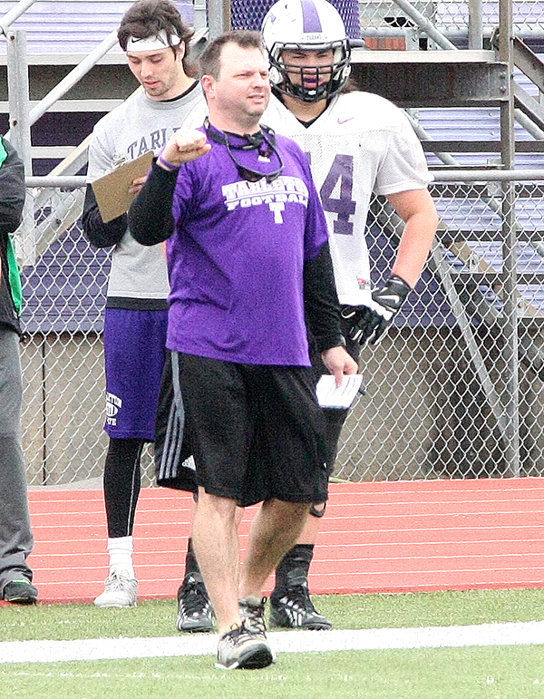 Tarleton offensive coordinator Mason Miller saw his unit score six touchdowns in seven possessions Saturday morning.