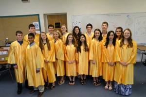 Huckabay Jr. High School graduates