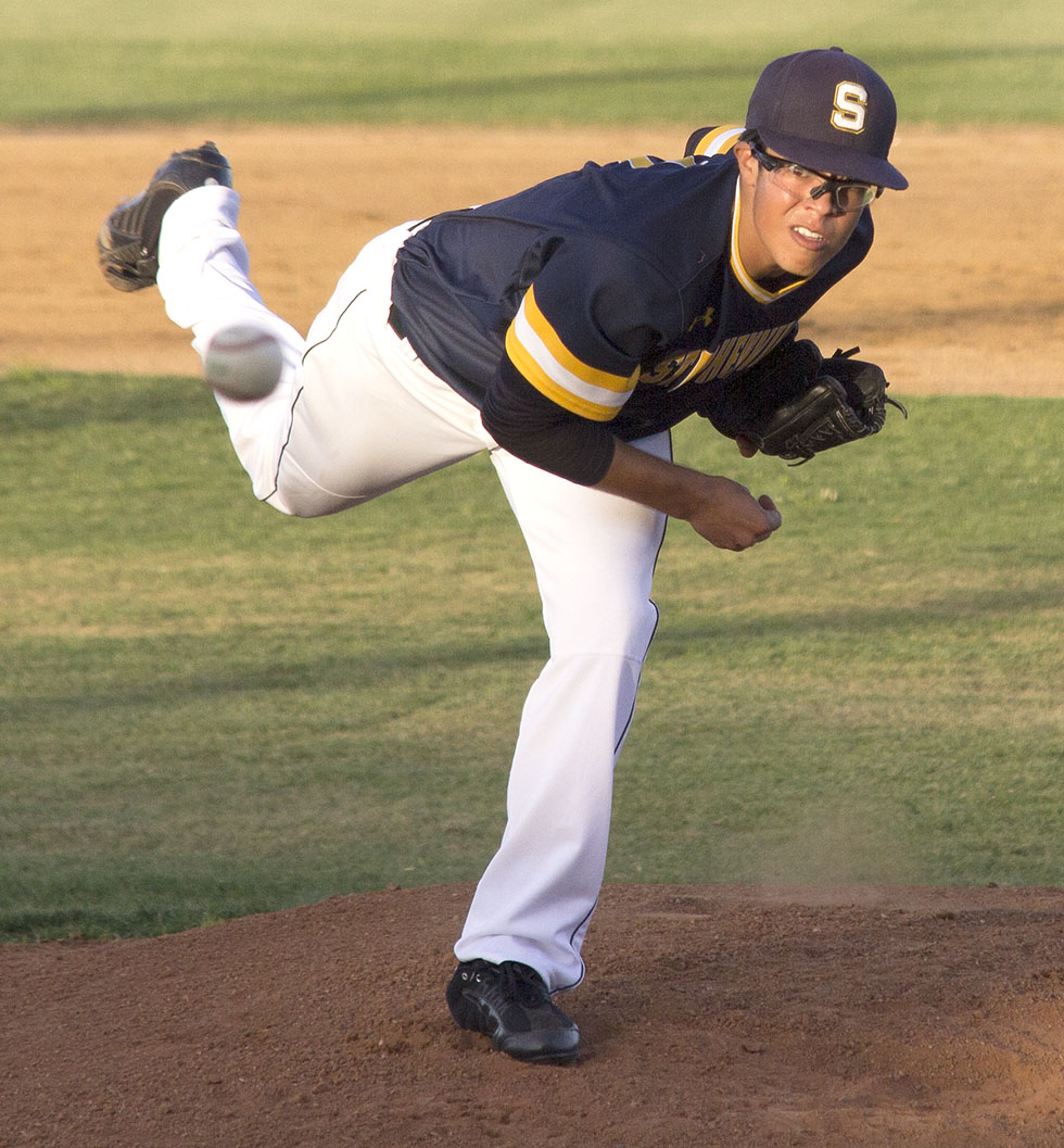 Alex Jimenez, shown in recent district competition, allowed two earned runs on five hits and struck out five for Stephenville Friday. || Courtesy Dr. CHET MARTIN