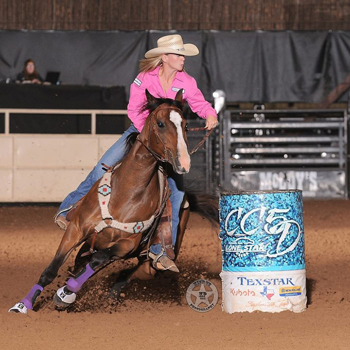 Kelly Allen won the CC5D with the third fastest time ever at Lone Star Arena, the fastest this year. || Photo by Kierce Photography