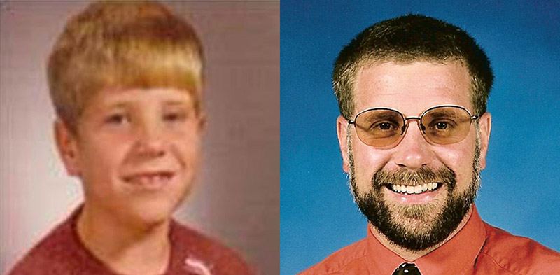 Dr. James Gentry then and now