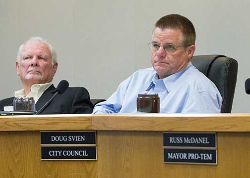 """Stephenville City Councilman Boyd Waggoner (left) released information after he felt the local newpaper was being used by Judy Miller to """"tell her side"""" of the story while the council was gagged."""