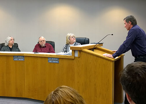 Councilman Jerry Warren (center) opened the door to Stephenville's executive sessions concerning Judy Horn-Miller in an apparent attempt to distance him from an unpopular decision. Warren's actions may have led Councilman Boyd Waggoner to release a highly embarrassing email, which has led to the public finding out about some eye-opening problems at Stephenville City Hall to include sex allegations, lies and cover-ups.