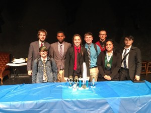 The Ranger College Speech & Debate Team finished seventh overall – third among all small colleges – at the Texas Intercollegiate Forensics Association Tournament at Del Mar College in Corpus Christi this past week. Shown above (back row, from left to right) are Tyler Brooks, Cameron Nellum, Peyton Donahoo, Mason Thayer, John Narvais, (front row) Sam Fernandez, Emily Willey and Linda Rubio. The team's next tournament is the first weekend in December at Cameron University in Lawton, OK.