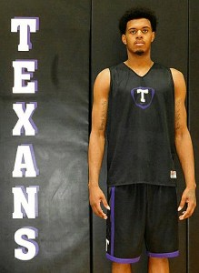 It took only 14 minutes for Romond Jenkins to grab seven rebounds in his first game for Tarleton State Monday night. He also threw down a monstrous dunk on an off-the-glass alley-oop from teammate Charles Hill. || TheFlashToday.com photo by BRAD KEITH